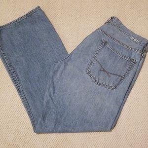Mens Gap Loise Fit Straight Leg Jeans Size 35x34